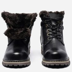 Cheap shoes brand, Buy Quality shoes style directly from China shoes shoes Suppliers: Size Warmest Snow Boots 2018 Hecrafted Brand Russian Style Genuine Leather Men Winter Shoes Winter Work Shoes, Mens Winter Shoes, Mens Snow Boots, Warm Snow Boots, Mens Ankle Boots, Men Boots, Winter Boots, Black Leather Boots, Leather Men