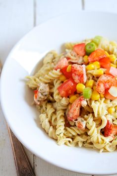 Lobster Pasta Salad by Movita Beaucoup | This salad is a great make-ahead option for kitchen parties.