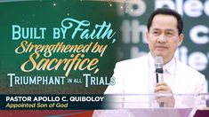 'Built by Faith, Strengthened by Sacrifice,Triumphant in all Trials' by Pastor Apollo C. Spiritual Enlightenment, Spirituality, Apollo, Kingdom Of Heaven, Son Of God, Trials, Gods Love, Worship, Foundation