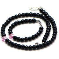 Oceľový set s perličkami a Swarovski srdiečkami Beaded Necklace, Beaded Bracelets, Swarovski, Pearls, Jewelry, Jewlery, Pearl Bracelets, Beads, Schmuck