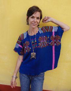 Beautiful Handwoven Ethnic Maya Women/'s Black Double Eagle Vintage Huipil Poncho from Chajul Guatemala