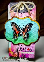 Fly Tag using Unity April 2014 Layers of Life Kit - Scrapbook.com  Unity Blog Hop today.  Come see my blog post for a peek at the rest of the projects I made using Unity stamps, chances to win some Unity, other DT blog stops, and SALES! http://cammierobinson.blogspot.com/2014/04/its-thursday-unity-blog-hop.html