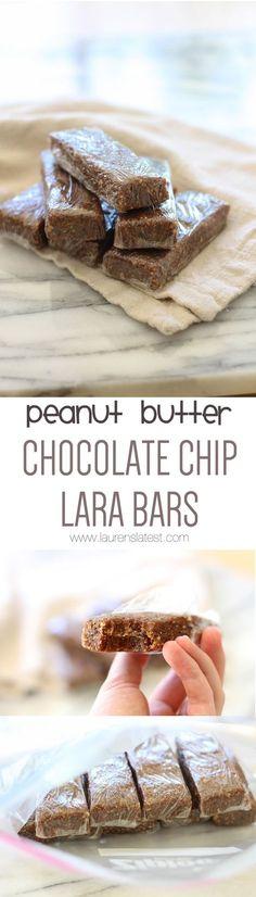 {Homemade} Peanut Butter Chocolate Chip Lara Bars