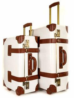 We don't care what you say...these are a necessity! Crazy cool retro chic luggage via @Christine Kirk