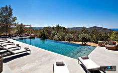 Villa Zia - Ibiza, Spain - Infinity Pool Views of the Mediterranean and Rolling Countryside