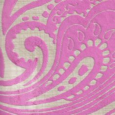 MRI0146 Pink Velvet burnout Fabric by the Yard by WhimsyFabrics