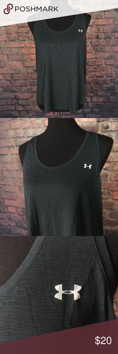 """Under Armour Sleeveless Tank Top Shirt Womens M Under Armour Sleeveless Tank Top Shirt Womens Medium M Loose Heat Gear Workout C28:17:P3.10:L34:14-18  Very Good Condition! Somewhat see through, See Photos!  Measurements (Approximately):  17.5"""" - Pit to Pit 25"""" - Item Length (Front Side Neckline to Bottom)  Questions? Please ask, I try to respond immediately!  Just a common guy bringing you great deals, superb customer service is my goal.  -Cooper @ CoopsThrifts Under Armour Tops Tank…"""