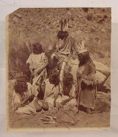 1874 Native American Paiute Indian Children Albumen Photograph by John Hillers | eBay