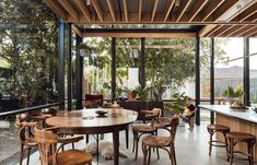 Harry House in Coburg, Melbourne by Archier | Yellowtrace Australian Architecture, Architecture Photo, Living Area, Living Spaces, Communal Kitchen, Weatherboard House, Timber Ceiling, Design A Space, Island Bench