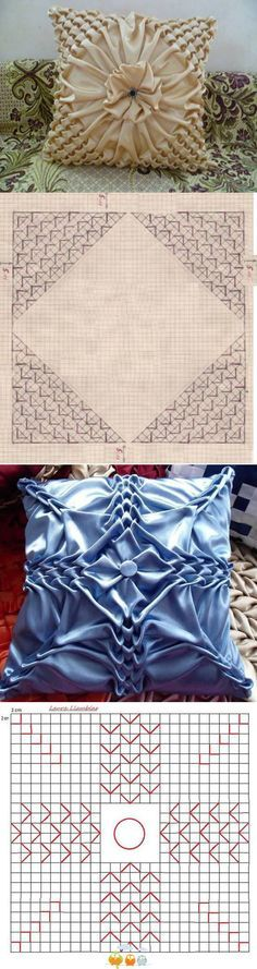love the style of these pillows, just need an idea of how to accomplish it...but they sure are pretty!