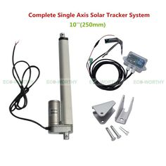 1KW Complete Single Axis Solar Tracker Kit10'' 12V Multi-purpose Linear Actuator