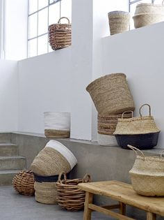 Bloomingville - Neutral/White Basket - Basket And Crate - Home Decor Baskets, Basket Decoration, Home Decoration, My New Room, Sisal, Wicker Baskets, Woven Baskets, Rattan, Home Accessories