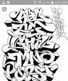 Graffiti Alphabets A Z Sketch