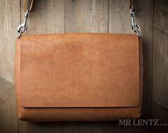 Leather Messenger Bag, Leather Shoulder Bag, Courier Bag, Leather Satchel 210