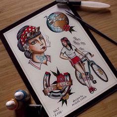 Lamina hecha por @miguelcomintattooer para el Flash Day en @nolandtattooparlour (La herradura y la chica con gafas de sol no son disponibles) Para citas e Info: tatuajes@nolandtattooparlour.com #tattoo #flash #flashaddicts #traditionaltattoos #traditional #flashday #ink #inkstagram #inkaddicts #oldlines #ninemag #skinart #skinartmag #horseshoe #globe #pinup #girlhead #tatuajesvalencia #nolandtattooparlour #instaart #watercolour #tattooart