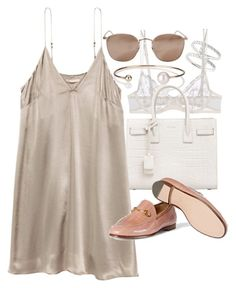 """Untitled #20544"" by florencia95 ❤ liked on Polyvore featuring Bony Levy, La Perla, Letters By Zoe, Yves Saint Laurent and Linda Farrow"