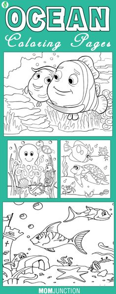 The vast and beautiful ocean has come to capture the imagination of kids all around the world. Check out our amazing 10 free printable ocean coloring pages.