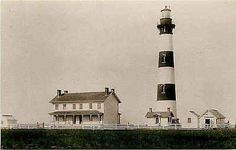 Pea Island North Carolina NC 1893 Bodie Island Lighthouse Vintage Postcard