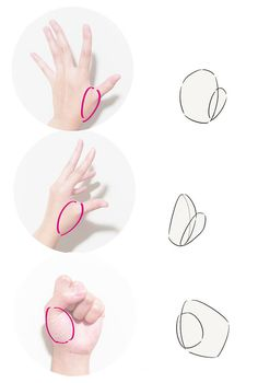 How to draw hands| Illustration Tutorial The base of the thumb