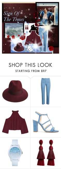 """Harry Styles - Sign Of The Times (SONGS #2)"" by annacrystal ❤ liked on Polyvore featuring Justine Hats, Theory, W118 by Walter Baker, Alexandre Birman, Lacoste and Oscar de la Renta"