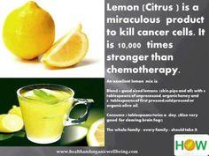 Anti-cancer and helps clear brain-fog ❥➥❥ Lemon Mix recipe ~ #lemons and organic #honey ♥  Please SHARE ♥ PLEASE ♡