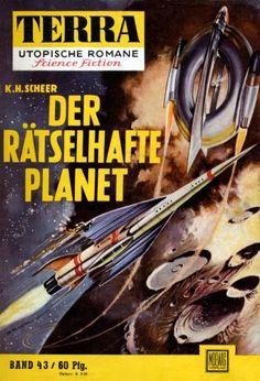 Terra SF 43 Der r�tselhafte Planet   Karl Herbert Scheer  Titelbild 1. Auflage:  Johnny Bruck.#
