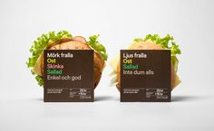 Press­byrån's fast food range   Sweden based design studio BVD has enhanced 7-Eleven and Press­byrån's fast food range by creating new, sofisticated, typographic base design for thier sandwich, wrap and salad packaging.
