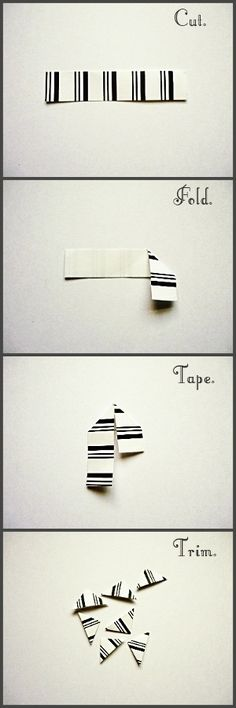 DIY Photo Corners- stick magnets on them and you could stick them in your locker or on the fridge. Just rearrange to hold pictures,notes, or other things