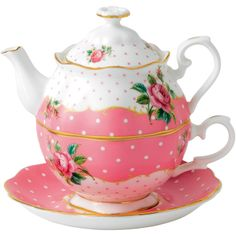 Royal Albert New Country Roses Cheeky Pink Tea for One - High Tea on Joss & Main