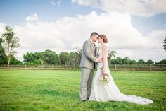 Bride and Groom Rustic, Outdoor Wedding Portrait | Tampa Wedding Photographer Rad Red Creative