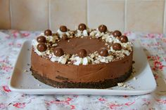 NO-BAKE CHOCOLATE MALTESER CHEESECAKE - Delicious & Chocolatey No-Bake Malt Chocolate Cheesecake – Perfect Showstopper for any occasion!