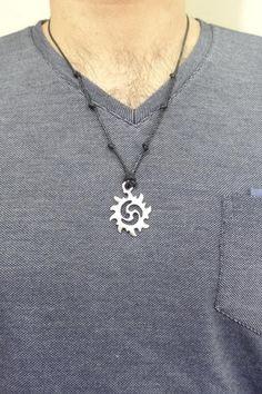 jewelry for men Black Necklace, Men Necklace, Bracelet Men, Men's Fashion Jewelry, Men's Jewelry, Jewellery, Big Men Fashion, Rock Fashion, Laser Cut Jewelry