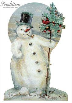 Cute vintage snowman!