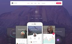 Metheor - Multi-Purpose App Showcase Landing Page