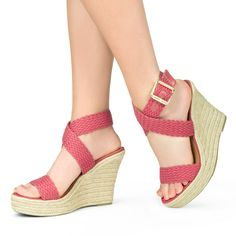 Styling this summer is a breeze! Wear this classic wedge on your next brunch date.