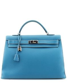 7373e67aa89 Hermes Blue Jean Togo Leather Kelly 40 is on Rue. Shop it now. Leather
