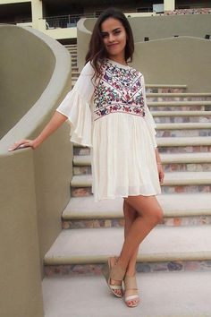 As the weather starts to warm up you will find yourself reaching for the Boho Babe Floral Embroidered Cream Swing Dress out of your closet. This dress is a little bitwhimsical and a whole lot flirty making it the perfect choice to wear this spring and summer. Wear this short dress as a bathing suit coverup at the pool or beach with sandals and your favorite beach tote. Or dress it up with wedges and a handbag to tour the island or enjoy a dinner watching the sunset.    www.ledyzfashions.com