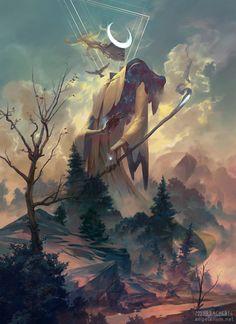 Remiel Angel of Visions digital 18x24 via /r/Art...