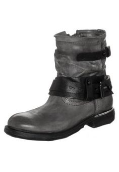 ZEROMETAL - Cowboy-/ Bikerstiefeletten - snow/nero Biker, Boots, Snow, Fashion, Crotch Boots, Moda, La Mode, Heeled Boots, Shoe Boot