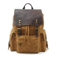 Bag. YUPINXUAN Top Luxury Canvas Leather Unisex Backpacks Large Capacity  Waterproof Vintage ... 791e479a4d73c