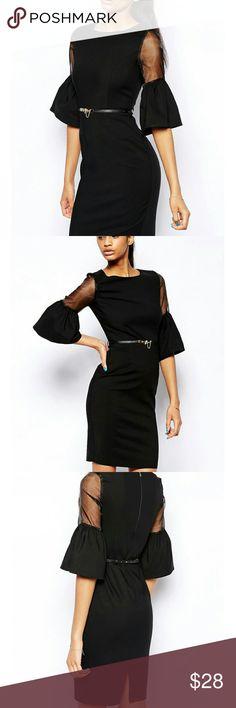 Elegant black midi dress Black midi dress laveliq Dresses Midi