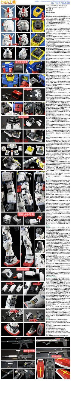 1/144 HGUC RX-78-2 ガンダム 改修塗装済完成品