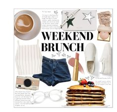 """""""Sunday Brunch"""" by sabbbycat ❤ liked on Polyvore featuring Marc Jacobs, American Apparel, Topshop, Kate Spade, Gap, Burberry, Stila and Too Faced Cosmetics"""