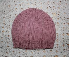 Hand Knitted Baby Girl Beanie Hat Soft by KnitAndCrochetCafe, $18.00