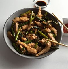 Spicy Basil Chicken Stir Fry Recipe! Ready in 20 minutes and only 287 calories!