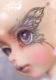 A lot of tutorials here: Doll Leaves 2 year anniversary special event head Babel. The faceup is just. Elfen Fantasy, Fantasy Art, Fantasy Fairies, Clay Dolls, Blythe Dolls, Doll Repaint, Fairy Art, Fairy Dolls, Custom Dolls