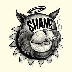 Shane is a young Illustrator from Paris with some amazing skills. These cartoon characters look like tattoo designs and each piece has something special. Check them out.