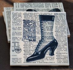 A Lady and Her Adventures  Upcycled Vintage coaster by uncommoncoasters, $14.00