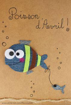 Poisson d'Avril !! #jeans #recycle Recyclage des pantalons https://pinterest.com/fleurysylvie/mes-creas-la-collec/ et http://www.toutpetitrien.ch