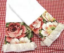 SANDY'S GINGHAM COUNTRY | eBay Stores Brown Hand Towels, Yorkshire Rose, Ralph Lauren Fabric, Ebay Shopping, Designer Pillow, Floral Fabric, Shabby, Tea Towels, Craft Projects